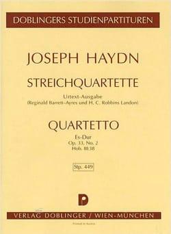 Streichquartett Es-Dur op. 33 n° 2 Hob. 3 : 38 - Partitur laflutedepan