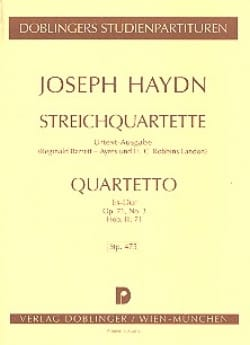 HAYDN - Streichquartett Es-Dur op. 71 n ° 3 Hob. 3: 71 - Partitur - Sheet Music - di-arezzo.co.uk