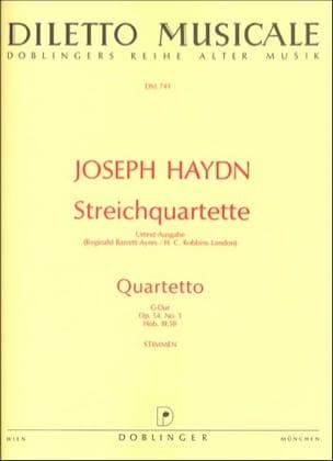 Streichquartett G-Dur op. 54 n° 1 -Stimmen - HAYDN - laflutedepan.com