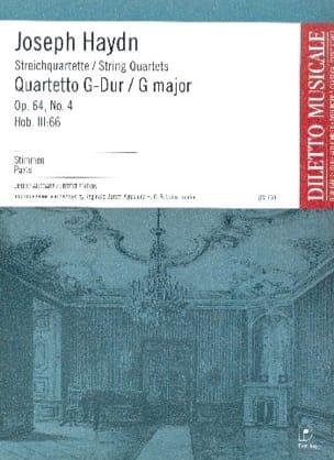 Streichquartett G-Dur op. 64 n° 4 -Stimmen - HAYDN - laflutedepan.com