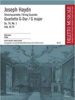 Joseph Haydn - Streichquartett G-Dur op. 76 n° 1 –Stimmen - Partition - di-arezzo.fr
