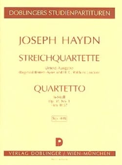 HAYDN - Streichquartett h-moll op. 33 n° 1 Hob. 3 : 37 - Partitur - Partition - di-arezzo.fr