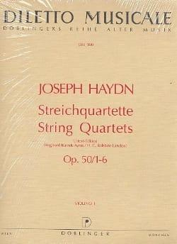 Streichquartette op. 50 n° 1-6 -Stimmen - HAYDN - laflutedepan.com