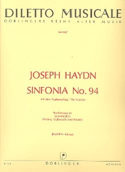 Symphonie Nr. 94 G-Dur –Klaviertrio - Joseph Haydn - laflutedepan.com
