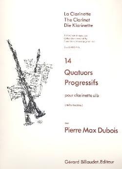 14 Quatuors progressifs Pierre-Max Dubois Partition laflutedepan