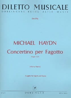 Concertino Per Fagotto Michael HAYDN Partition Basson - laflutedepan