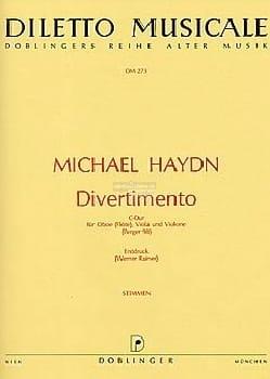 Michael Haydn - Divertimento C-Dur – Oboe (Flöte) Viola Violone - Partition - di-arezzo.fr