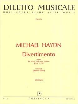 Divertimento D-Dur -Horn Viola Violone - Stimmen laflutedepan