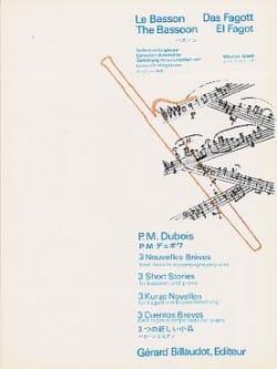 Pierre-Max Dubois - 3 Nouvelles brèves - Partition - di-arezzo.fr