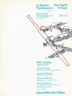 Aria et ruade Pierre-Max Dubois Partition Basson - laflutedepan