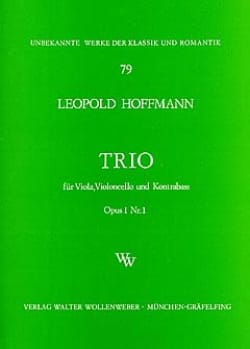 Leopold Hoffmann - Streichtrio op.1 n ° 1 - Stimmen - Sheet Music - di-arezzo.com