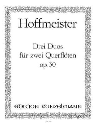 3 Duos op. 30 - 2 Flöten HOFFMEISTER Partition laflutedepan
