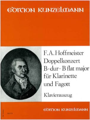 Franz Anton Hoffmeister - Doppelkonzert B-Dur - Klarinette Fagott Klavier - Sheet Music - di-arezzo.co.uk