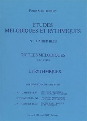 Pierre-Max Dubois - Melodic and rhythmic studies - Volume 3 - Sheet Music - di-arezzo.co.uk