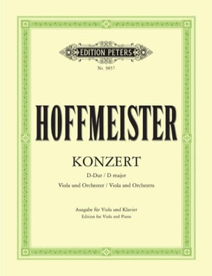Franz Anton Hoffmeister - Concerto D major - Viola - Sheet Music - di-arezzo.co.uk