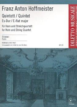 Quintett Es-Dur Mib M. - Cor-Quatuor A Cordes HOFFMEISTER laflutedepan