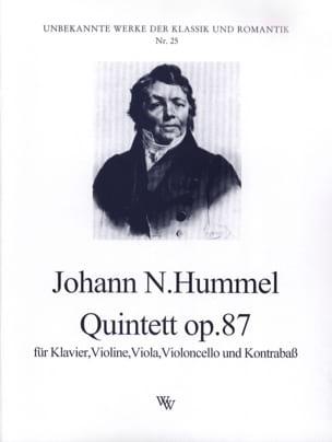 HUMMEL - Quintett op. 87 - Partitur Stimmen - Sheet Music - di-arezzo.com