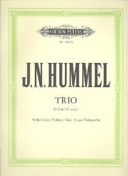 Johann Nepomuk Hummel - Streichtrio G-Dur - Partition - di-arezzo.fr