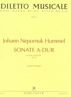 Sonate A-Dur op. 64 - Flöte Klavier HUMMEL Partition laflutedepan