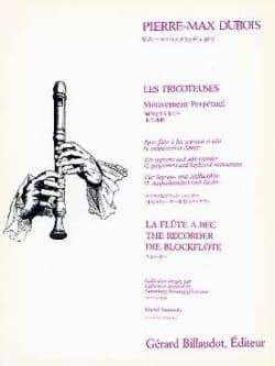 Les Tricoteuses - Pierre-Max Dubois - Partition - laflutedepan.com