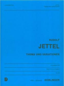 Rudolf Jettel - Thema und Variationen –Partitur + Stimmen - Partition - di-arezzo.fr