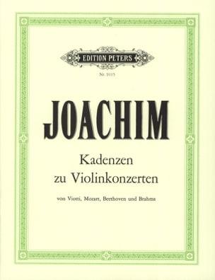 Joseph Joachim - Kadenzen zu Violinkonzerten - Partition - di-arezzo.fr