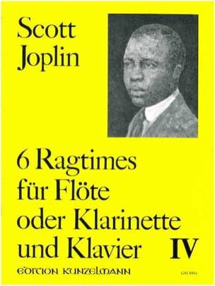 Scott Joplin - 6 Ragtimes Bd. 4 - Flöte o. Klarinette Klavier - Partitura - di-arezzo.it