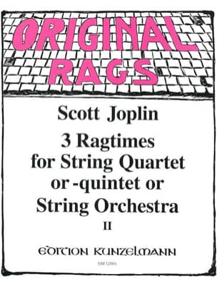 3 Ragtimes String Quartet or Quintet, Volume 2 laflutedepan