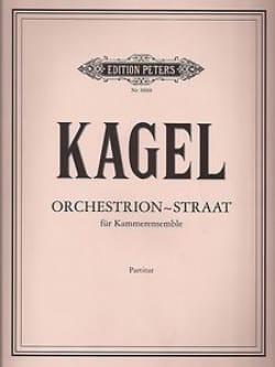 Orchestrion-Straat - Partitur Mauricio Kagel Partition laflutedepan