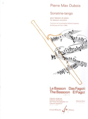 Pierre-Max Dubois - Sonatine Tango - Sheet Music - di-arezzo.com