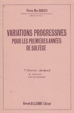 Pierre-Max Dubois - Progressive Variations - Volume 1 without acc. - Partition - di-arezzo.com