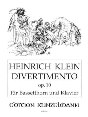 Heinrich Klein - Divertimento op.10 - Bassethorn Klavier - Partition - di-arezzo.fr