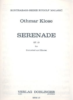 Serenade op. 13 - Othmar Klose - Partition - laflutedepan.com