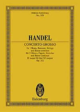 Georg Friedrich Haendel - Concerto grosso B-Dur - Partition - di-arezzo.fr