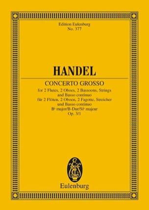 Concerto grosso B-Dur HAENDEL Partition Petit format - laflutedepan