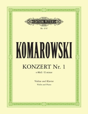 Anatoli Komarowski - Concerto No. 1 in E Minor - Sheet Music - di-arezzo.co.uk