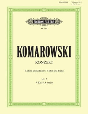 Anatoli Komarowski - Concerto No. 2 for violin - Sheet Music - di-arezzo.com