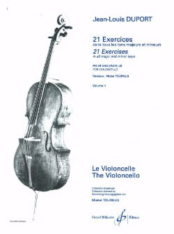 Jean Louis Duport - 21 Cello Exercises - Volume 1 - Sheet Music - di-arezzo.co.uk