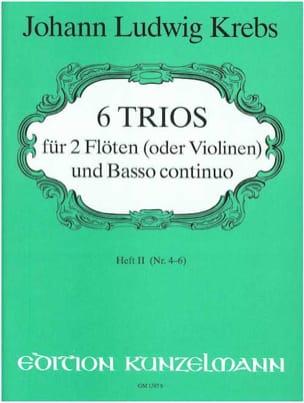 Johann Ludwig Krebs - 6 Trios - Heft 2 – 2 Flöten (Violinen) Bc - Partition - di-arezzo.fr