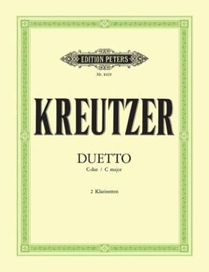 Conradin Kreutzer - Duetto C-Dur – 2 Klarinetten - Partition - di-arezzo.fr