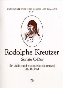 Rodolphe Kreutzer - Sonate C-Dur op. 16 n° 1 - Partition - di-arezzo.fr