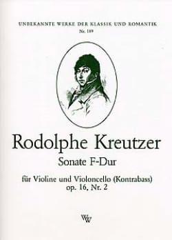 Rodolphe Kreutzer - Sonate F-Dur op. 16 n° 2 - Partition - di-arezzo.fr