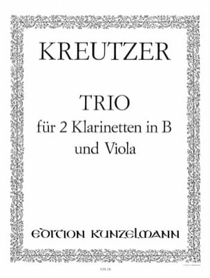Trio - 2 Klarinetten in B Viola - Conradin Kreutzer - laflutedepan.com