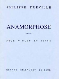Anamorphose - Philippe Durville - Partition - laflutedepan.com