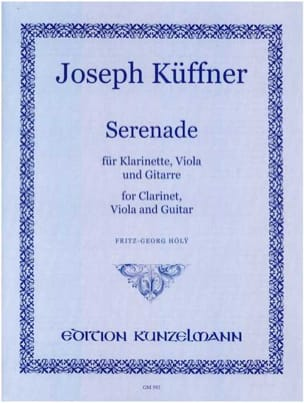 Joseph Küffner - Serenade –Klarinette Viola Gitarre - Partition - di-arezzo.fr