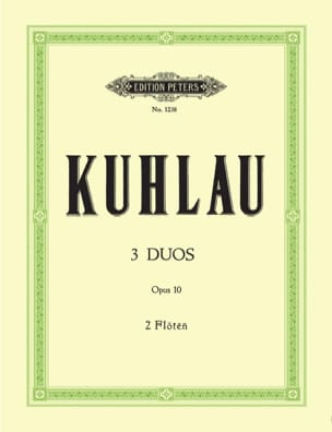 Friedrich Kuhlau - 3 Duos op. 10 - 2 Flutes - Sheet Music - di-arezzo.co.uk