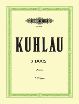 3 Duos op. 10 - 2 Flûtes Friedrich Kuhlau Partition laflutedepan
