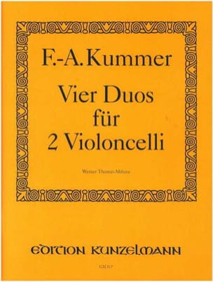 Friedrich-August Kummer - 4 Duos op。 103 - 楽譜 - di-arezzo.jp