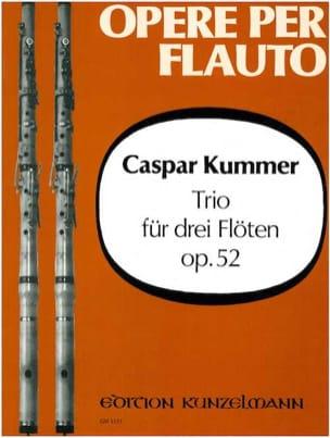 Trio op. 52 - 3 Flöten Gaspard Kummer Partition laflutedepan