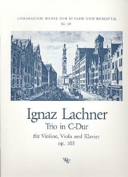 Ignaz Lachner - Trio C-Dur op.103 - Sheet Music - di-arezzo.com